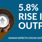 GHANA EXPECTS 5.8% INCREASE IN COCOA OUTPUT