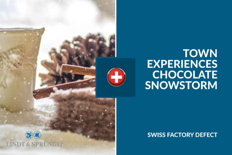 MALFUNCTION RESULTS IN CHOCOLATE SNOWSTORM AT SWISS FACTORY!