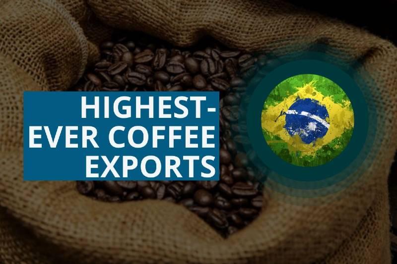 SE ESPERAN LAS EXPORTACIONES DE CAFÉ MÁS ALTAS DE BRASIL