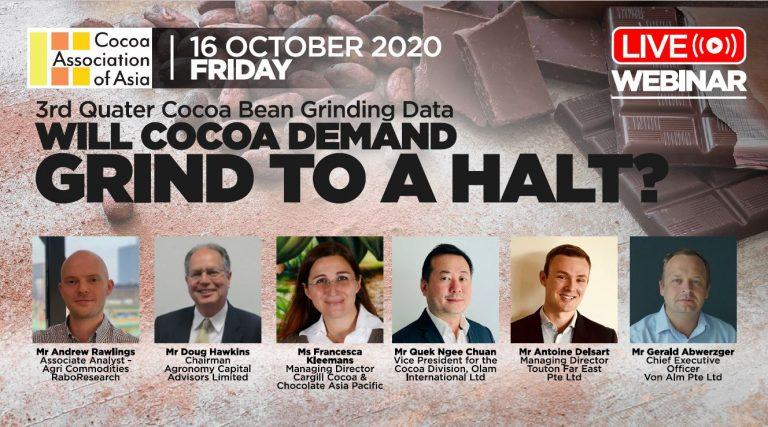 WILL COCOA DEMAND GRIND TO A HALT? FREE WEBINAR