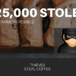 COFFEE WORTH $25,000 STOLEN FROM KENYAN FARM