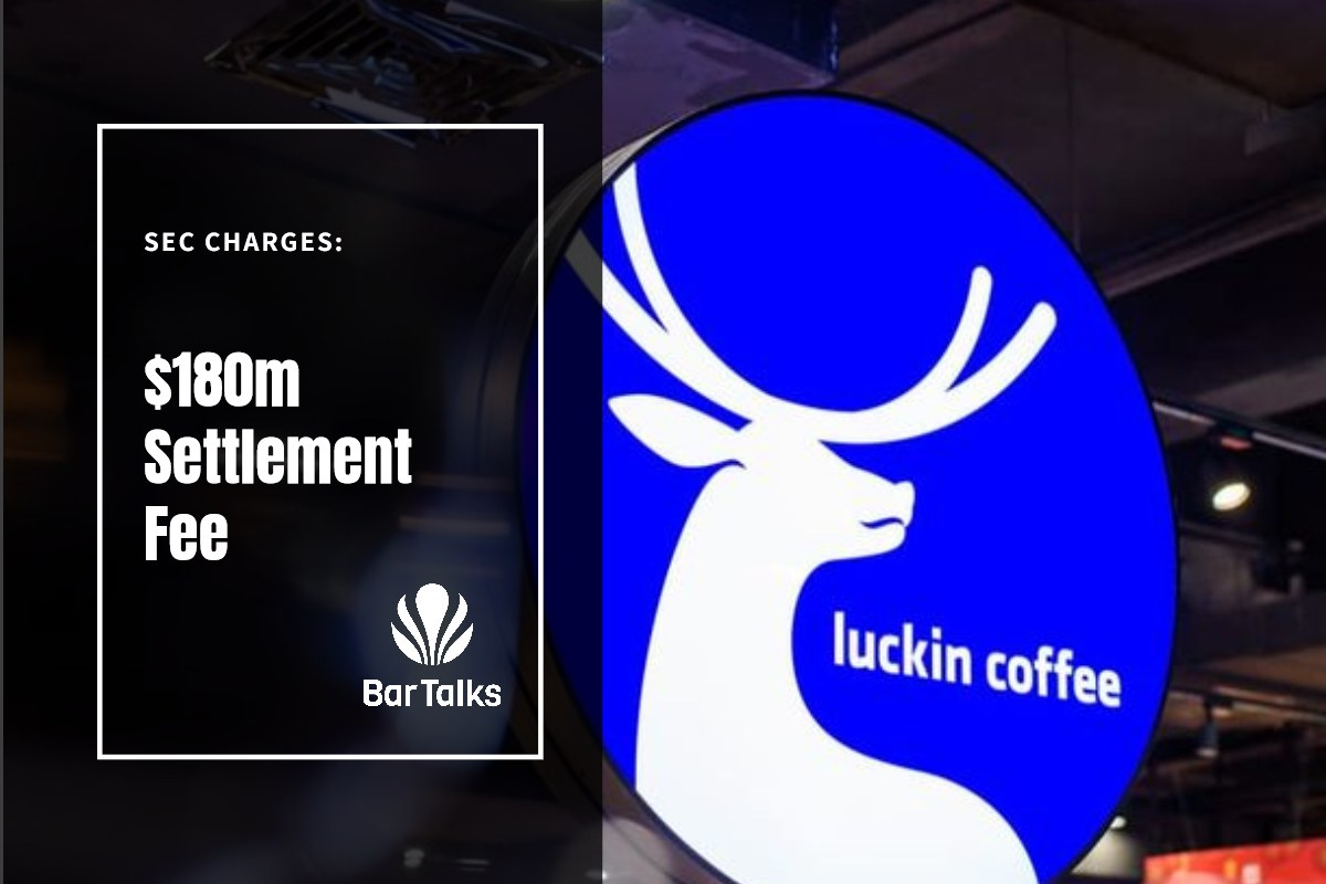 LUCKIN COFFEE PARA PAGAR $180M TARIFA DE ACUERDO POR FRAUDE