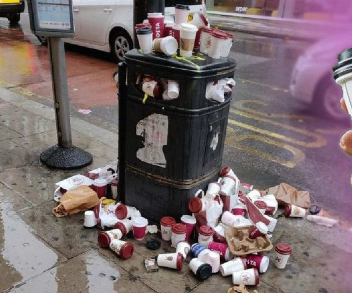 UK GOVERNMENT WANTS TO MINIMISE PAPER CUP WASTE