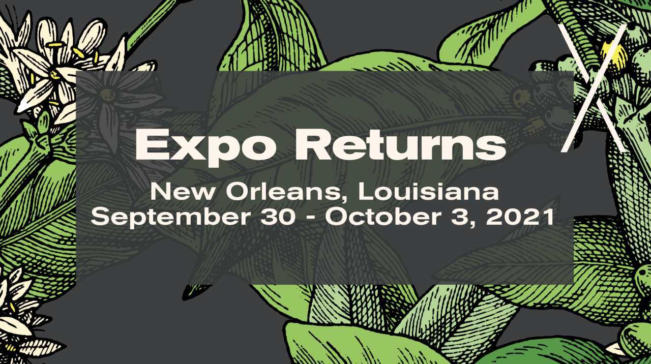 SPECIALITY COFFEE EXPO WILL GO AHEAD THIS OCTOBER